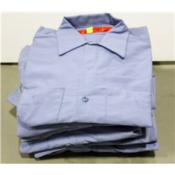 BUNDLE OF REDCAP BLUE LONG SLEEVE WORK SHIRTS