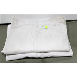 LOT OF 2 PAIR WHITE REDCAP WORK PANT, WAIST 36