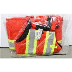 WORK KING INSULATED HI-VIS BIBS SIZE SMALL