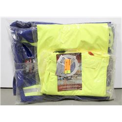 PPE LOT: INCLUDES 2 PAIR HI-VIS COVERALLS SIZE 42
