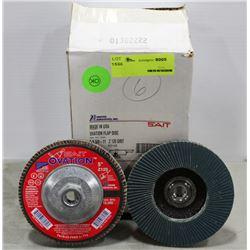 SAIT OVATION FLAP DISCS, 5X5/8-11, Z120 GRIT