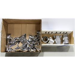 BOX OF ASSORTED NOZZLES & FITTINGS