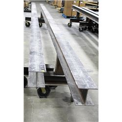 LOT OF 2 I-BEAM DOLLIES, LENGTH 24FT, HEIGHT 34""