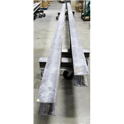 LOT OF 2 I-BEAM DOLLIES, LENGTH 24FT, HEIGHT 28""