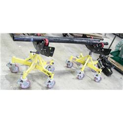 PAIR OF MAX-JAX 2 PIPE STANDS WITH VEE HEAD &