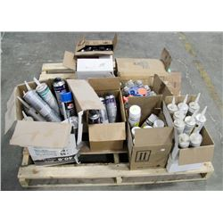 PALLET OF CAULKING, SPRAY ADHESIVES & MORE