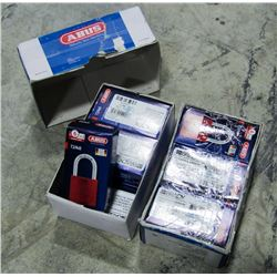 2 CASES OF ABUS MINI PADLOCKS