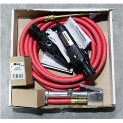 MILTON AIR HOSE AND 2 SPEEDAIRE REGULATOR