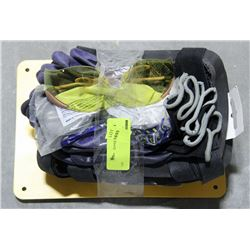 SAFETY LOT INCLUDES KNEE PADS, GLASSES & GLOVES