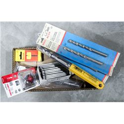 BOX OF ASSORTED DRILL BITS