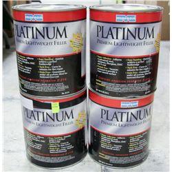 4 CANS OF PLATINUM PREMIUM LIGHTWEIGHT FILLER