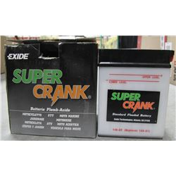 EXIDE SUPERCRANK ATV, MOTORCYCLE BATTERY, 14A-A2