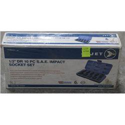 JET 1/2  DRIVE 10PC SAE IMPACT SOCKET SET