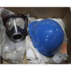 LOT OF FACE & HEAD PROTECTION