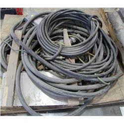 PALLET OF HEAVY DUTY ELECTRICAL WIRE & BOX