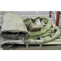 PALLET OF SPRAY FOAM HOSE AND BARREL WARMER