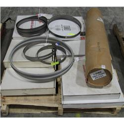PALLET OF VARIOUS SIZED BAND SAW BLADES