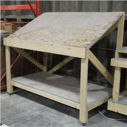 SHOP WORK TABLE 72 WIDE X 41 DEEP X 44 TALL