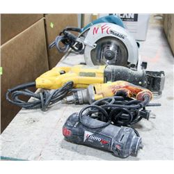 GROUP OF SHOP POWER TOOLS, INCLUDES ROTOZIP