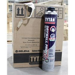 CASE OF 12 CANS TYTAN DRYWALL PRO HIGH YIELD