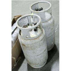 PAIR OF PROPANE CANISTERS