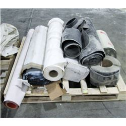 PALLET OF ASSORTED ROLLS OF ROOFING MEMBRANE