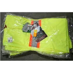 LOT OF 5 PIONEER HI-VIS BIB PANT, SIZE SMALL