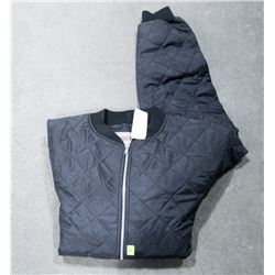 WORK KING BLACK QUILTED JACKET SIZE 2XL