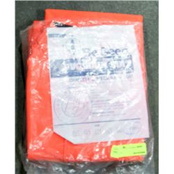 BE SEEN HI-VIS FLAME RETARDANT PVC RAIN SUIT,