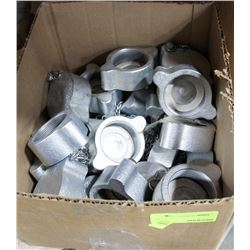 BOX OF THREADED COVERS/CAPS