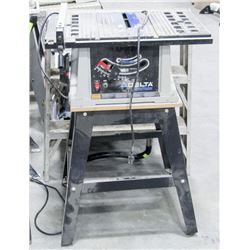 "DELTA SHOPMASTER 10"" TABLE SAW WITH STAND"