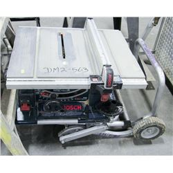 "BOSCH 10"" WORKSITE TABLE SAW WITH GRAVITY RISE"