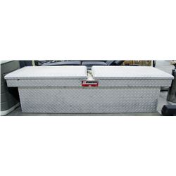 "CHROME SIDE OPEN TRUCK TOOL BOX, APPROX 61"" WIDTH"