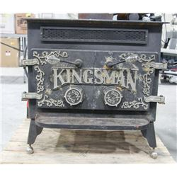 KINGSMAN CAST IRON WOOD BURNING STOVE