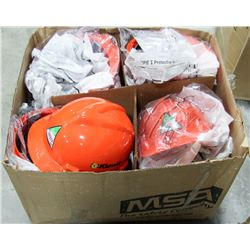 CASE OF 20 NEW RED HARD HATS