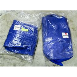 LOT OF 2 BLUE COVERALLS, SIZE 44 LONG