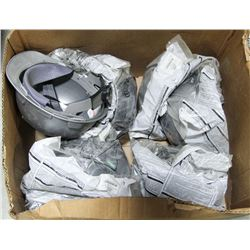 BOX OF 8 NEW GREY HARD HATS