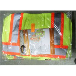 LOT OF 4 HI-VIS RAIN JACKETS SIZE MEDIUM