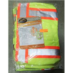 LOT OF 4 HI-VIS RAIN JACKETS SIZE SMALL