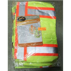 LOT OF 4 HI-VIS RAIN JACKETS SIZE XL