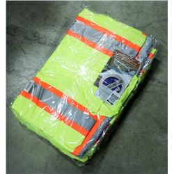 LOT OF 3 HI-VIS RAIN JACKETS, SIZE XL