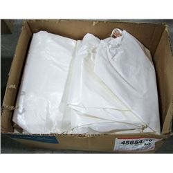 6 PAIR WHITE HOODED COVERALLS