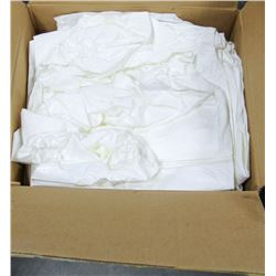 CASE OF DISPOSABLE HOODED WHITE COVERALLS