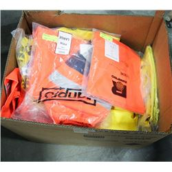 LARGE BOX OF VARIOUS NEW SAFETY GEAR