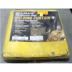 TILLMAN TRANSPARENT VINYL WELDING CURTAIN