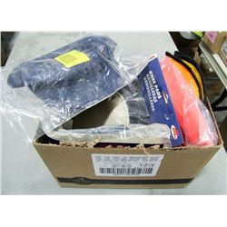 SAFETY LOT: INCLUDES GLOVES, KNEE PADS & MORE