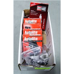 BOX OF ASSORTED SPARK PLUGS