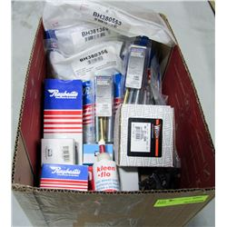 BOX OF ASSORTED NEW AUTO BRAKE PARTS