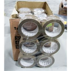 CASE OF 36 ROLLS OF 3M PACKING TAPE