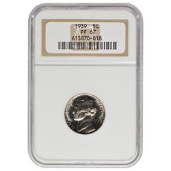 1939 Jefferson Nickel NGC PF67